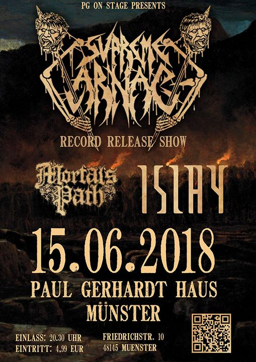 Live: Supreme Carnage (New Record), Islay, Mortal's Path